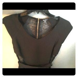 Flirty Lace Back Little Black Dress