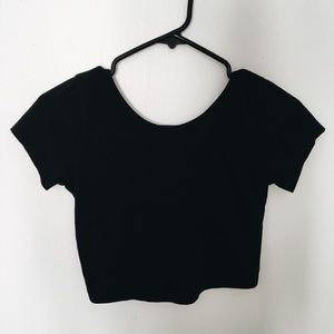 Brandy Melville Black Crop Top