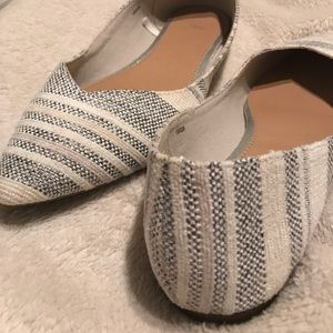 Gap white and blue tweed flats