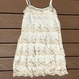 Flowy White Lace Dress