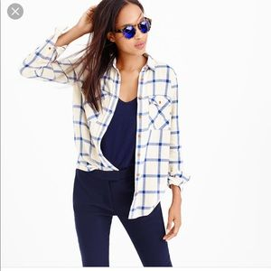 J. Crew plaid boyfriend shirt