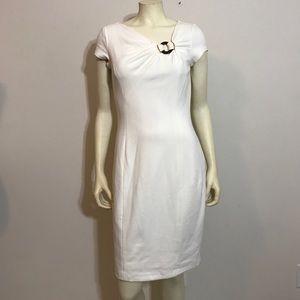 NWT White cap sleeve cache Dress 8