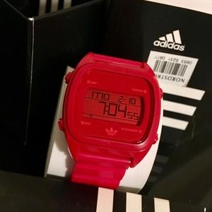 🌹Red Adidas Sports Watch