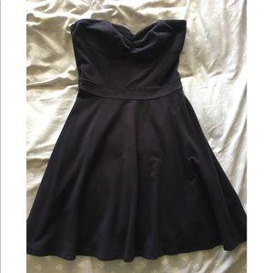 Hollister black strapless dress