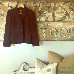 Ann Taylor petite four button pinstripe jacket