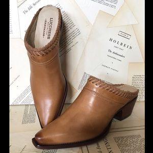 Anthropologie Lucchese Braided Slide Sandal Boot 9