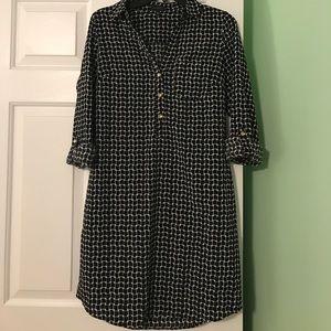 Limited black geometric shirt dress. Size M.
