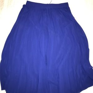 ASOS BLUE MIDI SKIRT- NEW WITH TAGS, SIZE 6