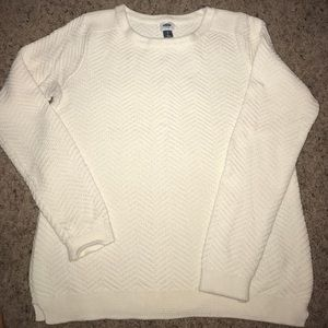 Old Navy white cable nit sweater