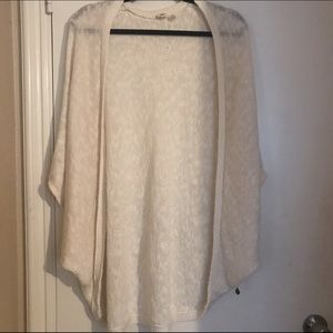 Roxy White Long Kimono Cardigan