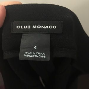 CLUB MONACO RUFFLE DETAIL SKIRT