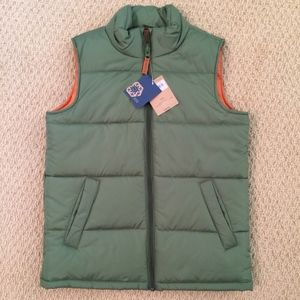 Land's End Boys Puffer Vest Weather Resistant
