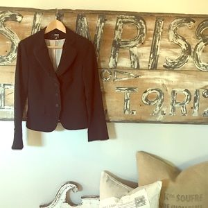 H & M three button blazer with satin trim