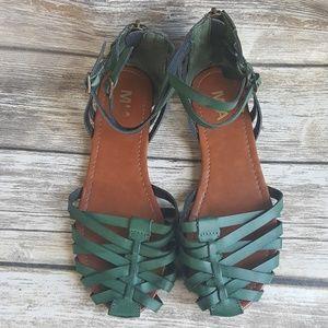 MIA Green Strappy Sandals