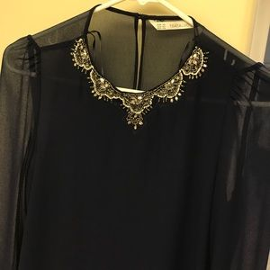 Zara Trafaluc XS beaded top