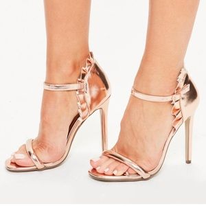 NWT Missguided Rose Gold Heels