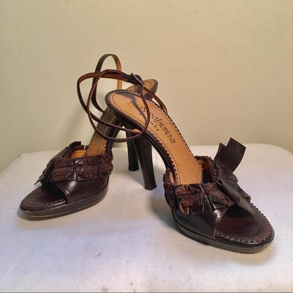 yves saint laurent shoes rive gauche heels ysl poshmark rh poshmark com