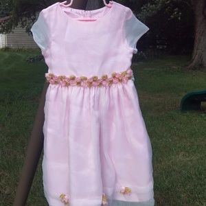 Other - Pink Dress with Floral Detail