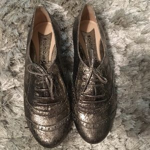 Silver Oxfords from Boutique 9