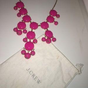 J. Crew pink bubble necklace