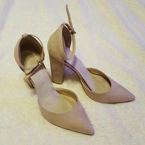 Aldo Suede Creme Heels