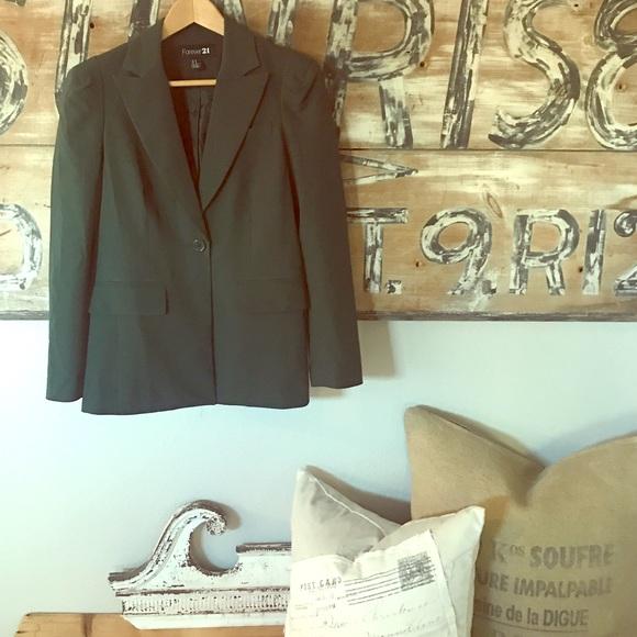 Forever 21 Jackets & Blazers - Emerald one button blazer
