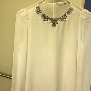 Zara XS Trafaluc beaded top