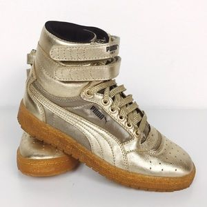 Brand NEW Puma Sky Hi Gold Sneakers