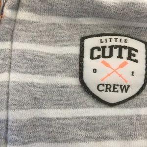 Carter's Matching Sets - Carters striped hoodie sweatshirt and onesie 9m