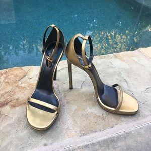 Saint Laurent gold heels