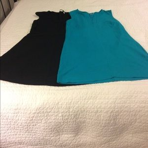 Two New York and company cotton dresses XL