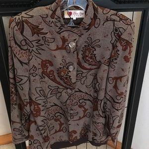 Luxurious Metallic Woven Autumnal Jacket