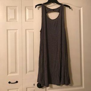 Black and white stripe tshirt dress