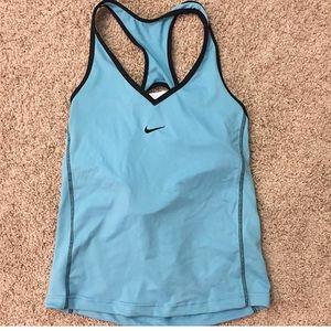 Nike blue workout tank xl
