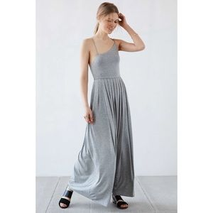 NEW! Silence & Noise Asymmetric Knit Maxi Dress