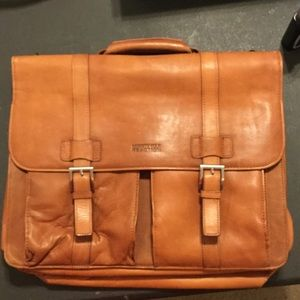 Kenneth Cole Reaction men's leather briefcase