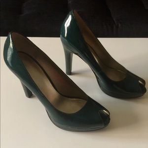 Nine West Patent Leather Heels, Green, 6M