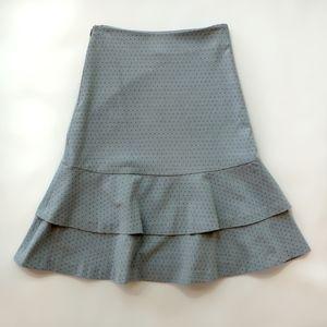 Anthropologie Odille fluted skirt