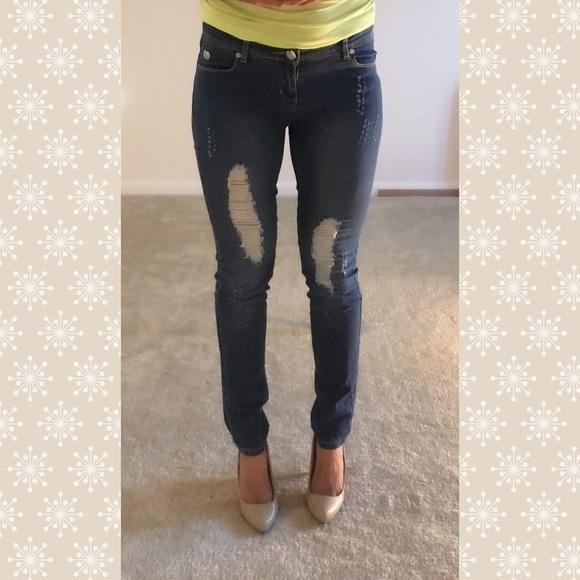 3f866416e7b Apple Bottoms Denim - Apple Bottom distressed skinny jeans