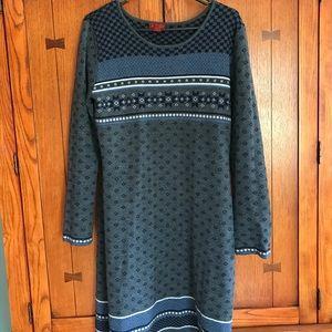 Apre ski print sweater dress