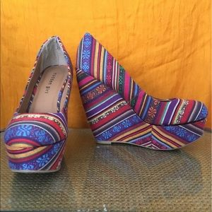 Patterned Steven Madden Wedges Craftty
