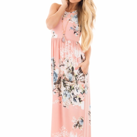 fe066b3f89 Bellamie Dresses   Skirts - Light Pink Floral Maxi Dress Size M