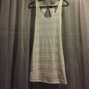 White lace urban outfitters dress