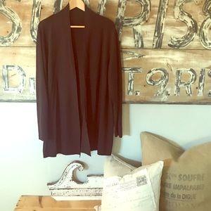 Eileen Fisher plum color open cardigan plus size