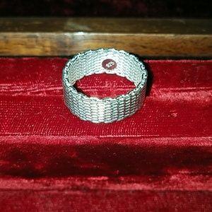 Sterling silver mesh ring sz 10