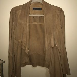 Zara loose suede jacket size small