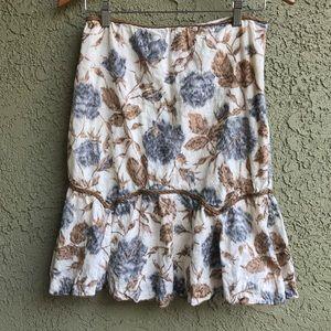 Anthropologie Fei Boho Embroidered Peasant Skirt
