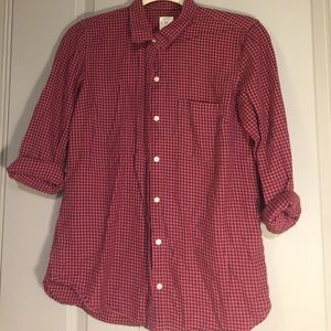 GAP XS Red/Blue button up.