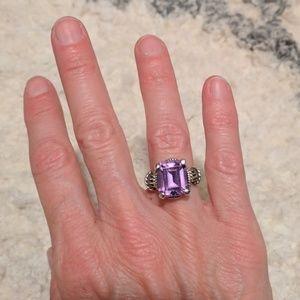 Sterling silver gemstone ring. Size 6