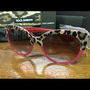 Dolce & Gabbana Pink Cat Eye Sunglasses Brand NEW!